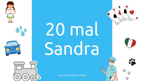 Cover für Blogartikel 20 mal Sandra