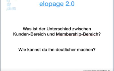 ELOPAGE 2.0 – Unterschied Kundenbereich und Membership